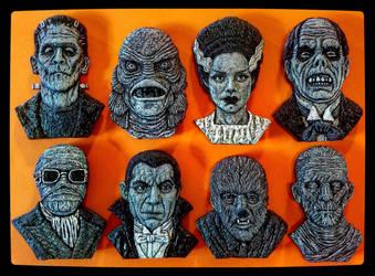 Universal Monsters Magnets by JasonMcKittrick
