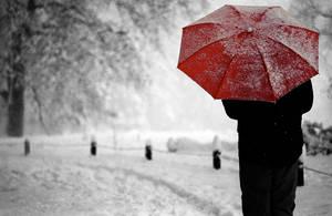Red umbrella by caleum