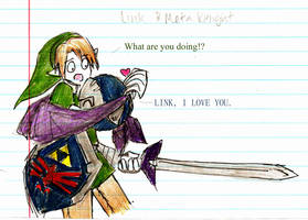 Link and Meta Knight by dudeimmikayla