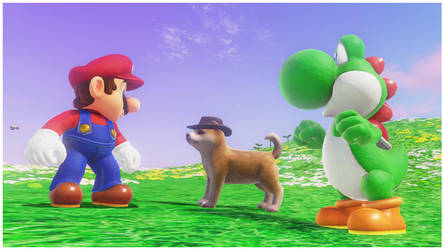 Mario, Yoshi and the dog by Banjo2015