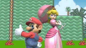 Mario and Peach by Banjo2015