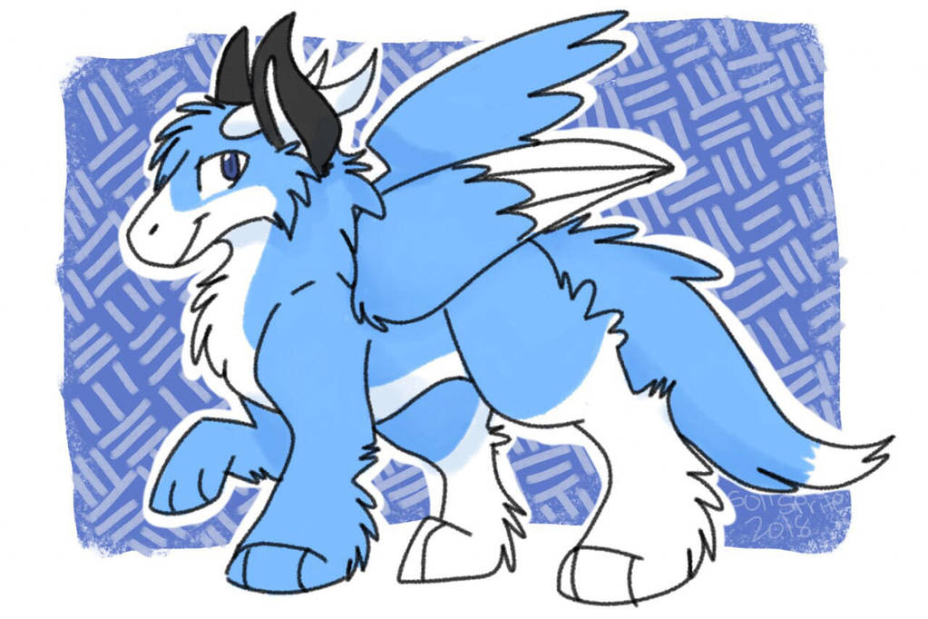 Sapphire the angel dragon by Soll-Sprite
