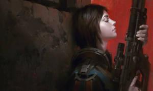 Gun girl by MitchellMohrhauser