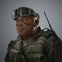 Military Portrait 2 by MitchellMohrhauser
