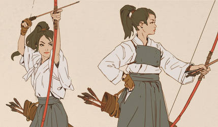 Kyudo Girls by MitchellMohrhauser