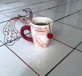 Tea and cherry by charmingyuri
