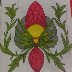 art class work:making a flower by phantomwinds1718