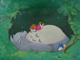 Totoro and Mei by BenF