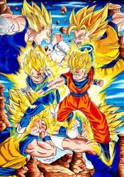 Majin Vegeta Vs Goku Ssj 2 Battle Dragon Ball Z By Artegavino On