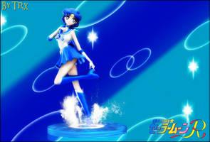 Sailor Mercury Statue (Shine Aqua Illusion) by TRXNALARA