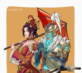 Mercy and Genji - Chinese New Year by 912naruhina