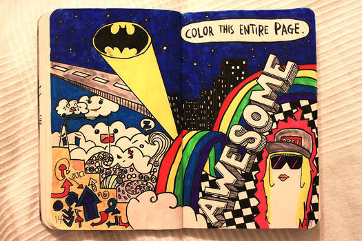 Wreck This Journal Color This Entire Page By Monxi On Deviantart