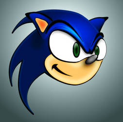 Sonic, hecho en Gimp 2.8 by willithebest1988