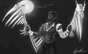 Wolfman Draven: Black and White by Dargonite