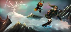 Snowpeak Snowboarding - Twilight Princess by Dargonite