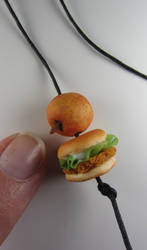 Beads: Apple and Chicken Burger by Bunny-with-Camera