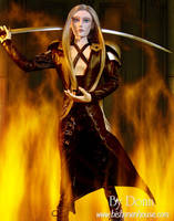 sephiroth in flames by BishonenHouse