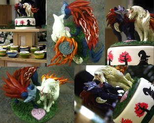 Okami Cake Topper by nicholasbledsoe