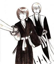 Ichimaru Gin and Fuji Syusuke by nicholasbledsoe
