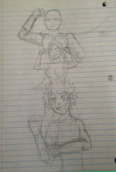 Saitama, Empowered and Deku by Maxis-Geryon