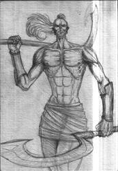 Khopesh warrior by Adrian-Bogdanov