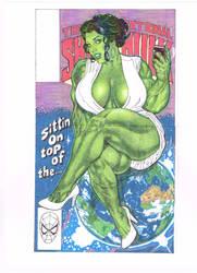 She Hulk Comic Cover by CrushArt2014