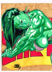 Full Color She Hulk by CrushArt2014