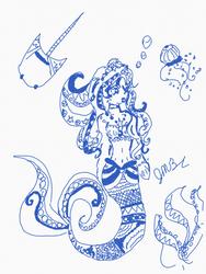 Blue mermaid by Jillianbeeler