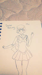Sailor Mercury Drawing by crazyfehs