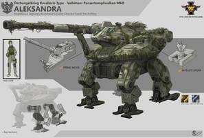 Aleksandra Battle Mech by adrn22