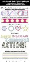 100+ Theatre Mirror Lights Graphic Styles by ChewedKandi