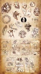 Inktober compilation by uildrim
