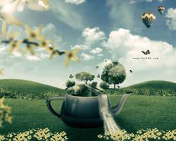 Teapot - Free PSD by 5p34k