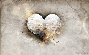 Burning Paper Heart - FREE psd by 5p34k