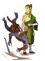 Flowing monk by Haclif