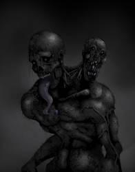 Siamese twin Zombie by devo-shitae