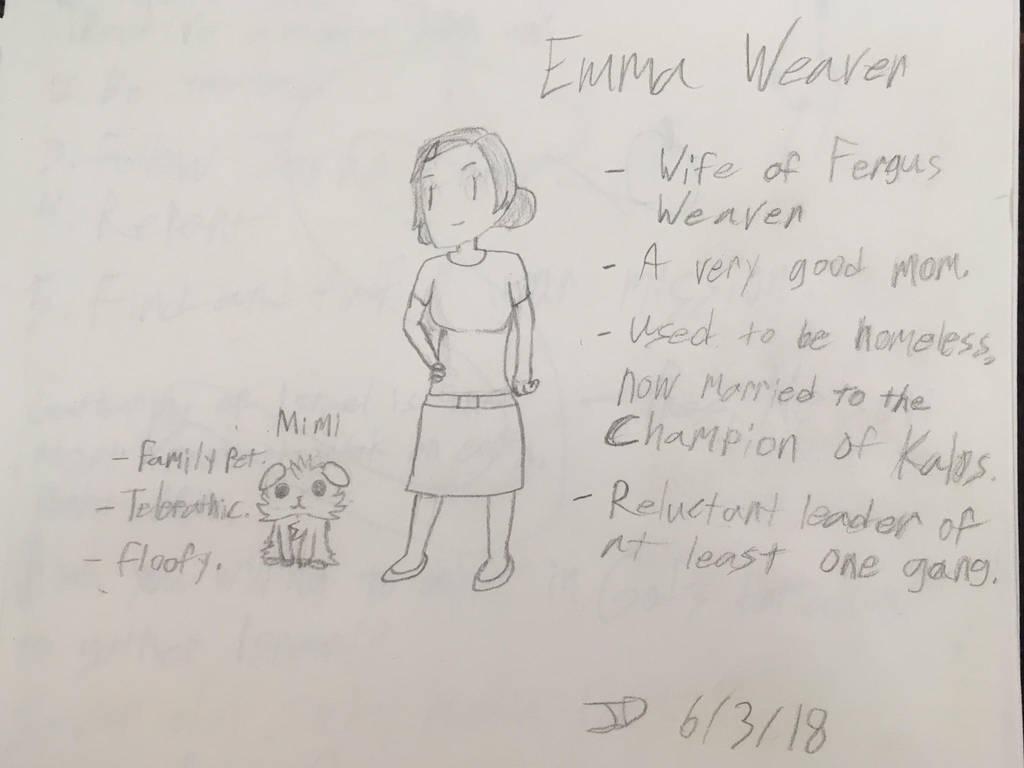 CASN character sheet: Emma Weaver by LegendWeaver25