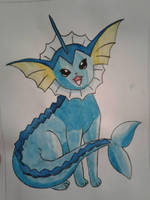 Vaporeon water paint by LuigiHorror64