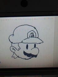 Simple Mario doodle by LuigiHorror64