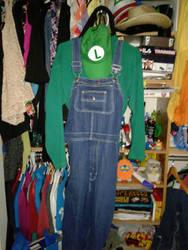 My Luigi costume part 1 by LuigiHorror64