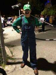me in my Luigi Costume by LuigiHorror64