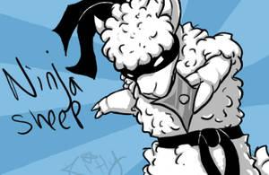 Ninja Sheep by KLFoxglove