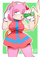 Rosechu - Sonichu (And pickle Rick) by TheIronMountain