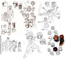 assorted character concepts by archvermin