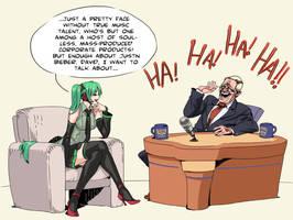 Hatsune Miku on Letterman by archvermin