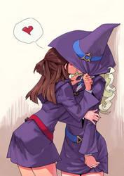 Little Witch Academia: Akko x Diana by archvermin