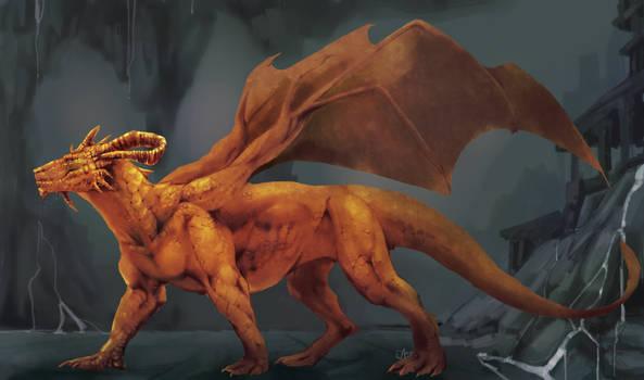 Golden dragon by AzorART