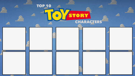 Top 10 Toy Story Characters Blank Meme by edogg8181804