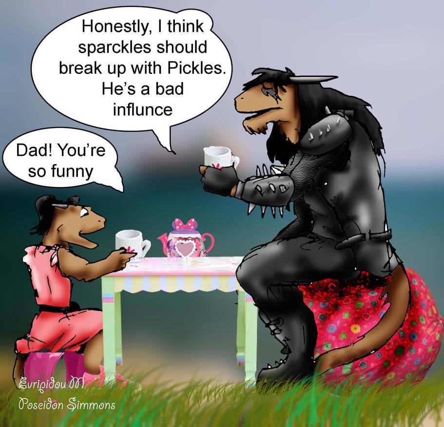 daddy tea time by poseidonsimons