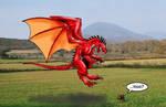 dragon isle-red dragon by poseidonsimons
